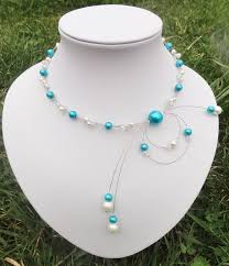 collier de mariage collier mariée mariage soirée perles ivoire et parmes bijoux