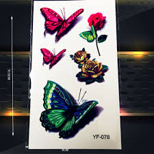 compare prices on roses butterflies tattoos online shopping buy