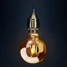 special lamps led 4w e27 smoked gold glass g95 bulb special
