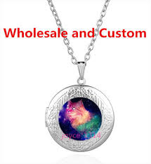 photo locket pendant necklace images Galaxy cat cabochon tibetan silver glass locket pendant necklace jpg