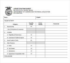 sample talent show score sheet 7 documents in pdf