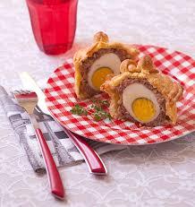 recette de cuisine avec des oeufs pâtés de pâques berrichon individuels oeufs durs chair à saucisse