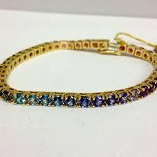 multi colored gold bracelet images Multi color gemstone bracelet village goldsmith antiques jpg