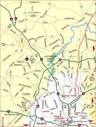 atlanta city us map road map of atlanta metro northwest atlanta