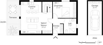 plan maison 3 chambre plan de maison rez chaussee tage 3 chambres ooreka 1 304893 253