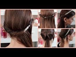Schnelle Frisuren F Lange Haare Mit Pony by 5 Minuten Haarband Frisuren Einfache Und Schnelle Haartutorials