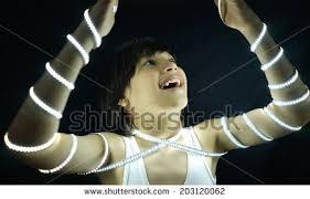 led strip light photography portrait kid led strip light concept stock photo royalty free