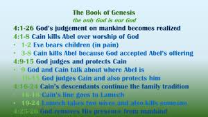 the outline of genesis 1 1 2 3 god creates the heavens and the