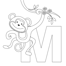 nice monkey coloring pages best coloring book 687 unknown