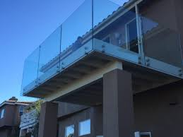 tempered glass railing on stainless steel standoffs patriot