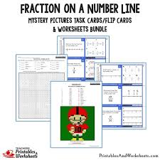 fractions and mixed numbers on a number line worksheets worksheets