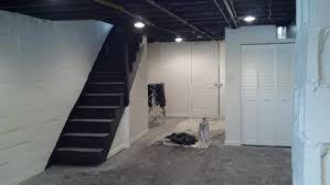 makeover basement painted with white wall interior color decor