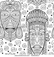 seamless pattern masks stock vector 609638513