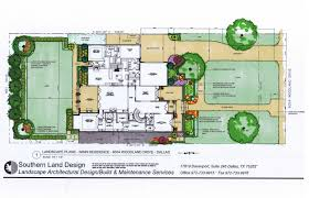 Landscape Floor Plan by Landscape Architect Master Plans Blueprints In Dallas