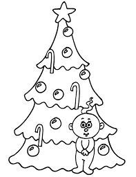 christmas tree pictures kids coloring