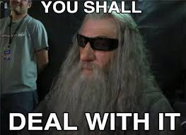 Deal Meme - or else deal with it know your meme