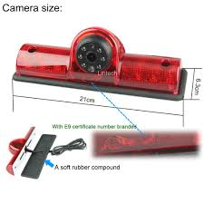 brake and light certificate waterproof night vision universal cargo third brake light camera