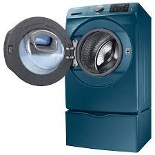 Samsung Blue Washer And Dryer Pedestal Samsung 5 2 Cu Ft High Efficiency Front Load Washer Wf45k6200az