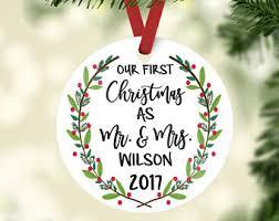 custom ornaments our christmas etsy