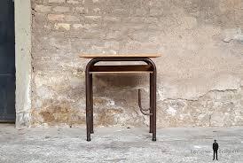 petit bureau vintage bureau ancien écolier en bois et métal