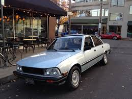peugeot 505 old parked cars 1982 peugeot 505 s turbo diesel