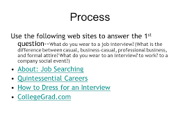 what do you wear to a job interview the interview u2013 a webquest ppt download