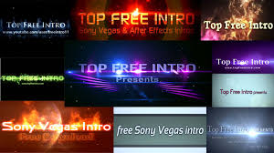 sony vegas intro templates no plugins and free download choose