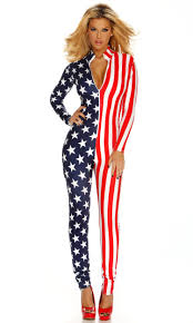 Flag Suit Usa Flagge Catsuit Aeval