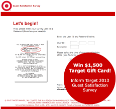 survey for gift cards complete the inform target survey for a chance to win a 1500