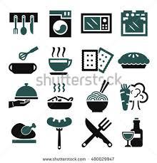 kitchen cuisine kitchen cuisine cook icon set เวกเตอร สต อก 480029947