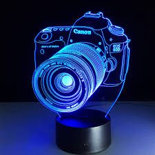 3d led for canon light led acrylic colorful lights