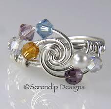 grandmothers ring grandmothers ring mothers ring sterling by serendipdesignsjewel
