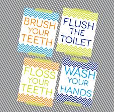 Kids Bathroom Idea Colors Free Kids Bathroom Reminders Freebies U003c3 Pinterest Kid