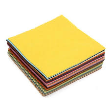 best fabric for sheets best price 41pcs 6 x 6 colorful solid color stiff wool felt fabric