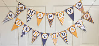 minnesota vikings football themed happy birthday banner purple