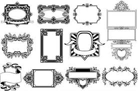 swirl ornament frames ai format free vector
