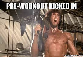 Pre Workout Meme - workout kicked in