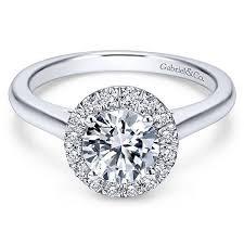 round halo rings images 14kt white gold round diamond halo engagement ring gabriel jpg
