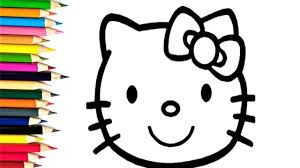 draw kitty coloring pages kids drawing coloring