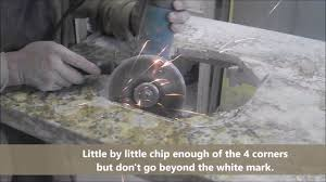 how to cut granite for sink how to cut a sink hole in granite countertop 2 youtube