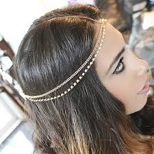 headpieces online 2015new fashion rhinestone headpiece gold chain