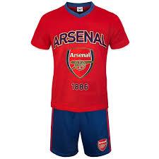 arsenal fc official football gift boys kit pyjamas co