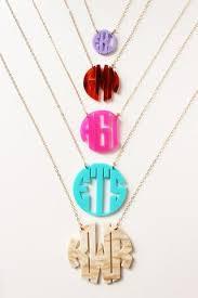 monogram necklace acrylic acrylic block monogram necklace gemma collection
