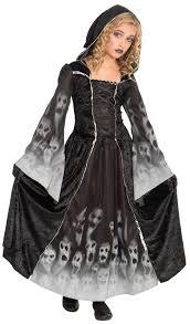 Halloween Reaper Costume Grim Reaper Girls Fancy Dress Halloween Spooky Ghost Ghoul Kids