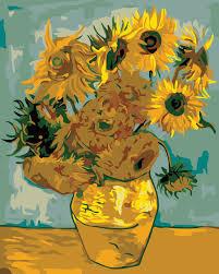 van gogh bedroom painting diy oil painting sunflower van gogh acrylic paint digital painting