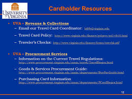 University travel card annual training program ppt video online