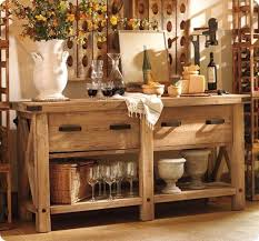 pottery barn buffet table rustic x end table furniture plans pinterest outdoor buffet
