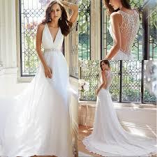 flowing wedding dresses simple 2015 summer wedding dresses flowing chiffon