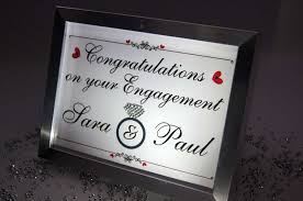 Home Decor Names by Congratulations Engagement Names Ring Sparkle Word Art