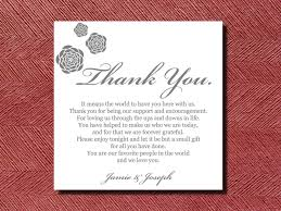 thank you card best wedding reception thank you card template